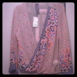 Moon Collection multicolored sheer top.
